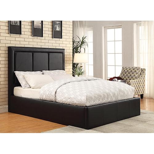Coaster Upholstered Beds Queen Jacobsen Upholstered Storage Bedroom