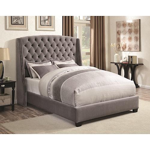 Coaster Upholstered Beds Wingback Upholstered King Bed