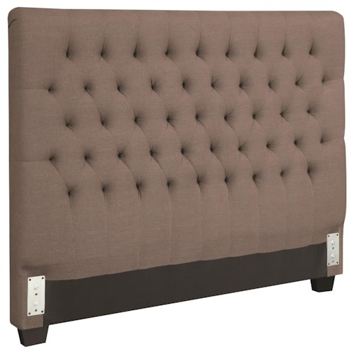 Coaster Upholstered Beds Queen Upholstered Headboard with Tufting in Light Color Fabric