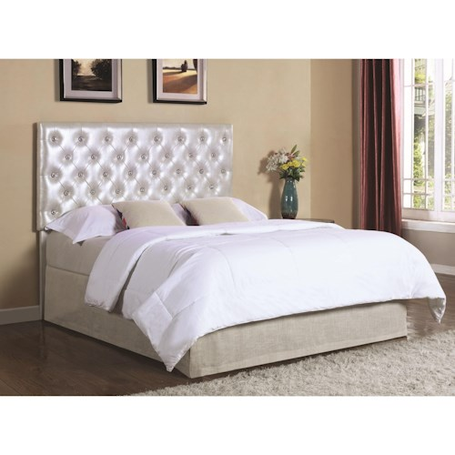 Coaster Upholstered Beds Upholstered Twin Headboard with LED Lights