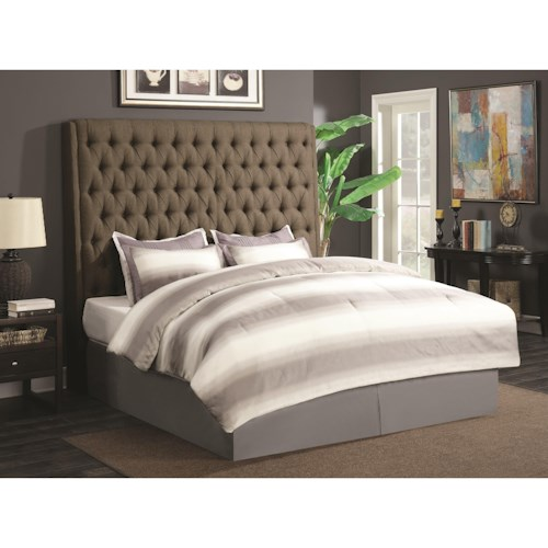 Coaster Upholstered Beds Upholstered King Headboard with Diamond Tufting