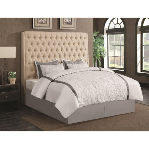 Coaster Upholstered Beds Upholstered California King Headboard with Diamond Tufting