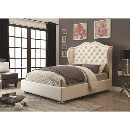 Coaster Upholstered Beds Wingback Upholstered California King Bed
