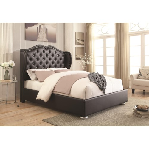 Coaster Upholstered Beds Wingback Upholsted Queen Bed