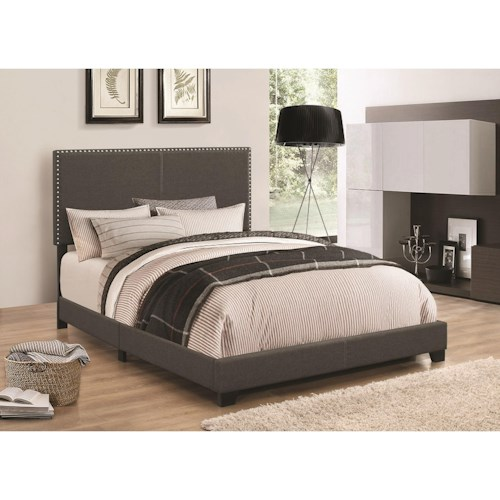 Coaster Upholstered Beds Upholstered Twin Bed with Nailhead Trim