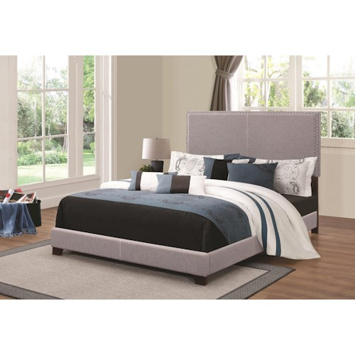 Coaster Upholstered Beds Upholstered Queen Bed with Nailhead Trim
