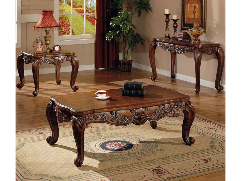 Shown in Room Setting with End Table and Coffee Table