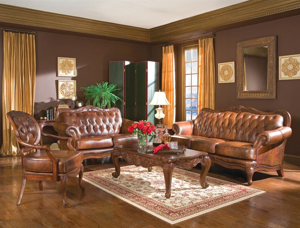 Shown in a Room Setting with Classic Rolled Arm Sofa