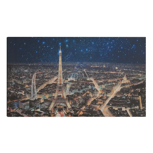 Coaster Wall Art Starry Night In Paris Wall Art