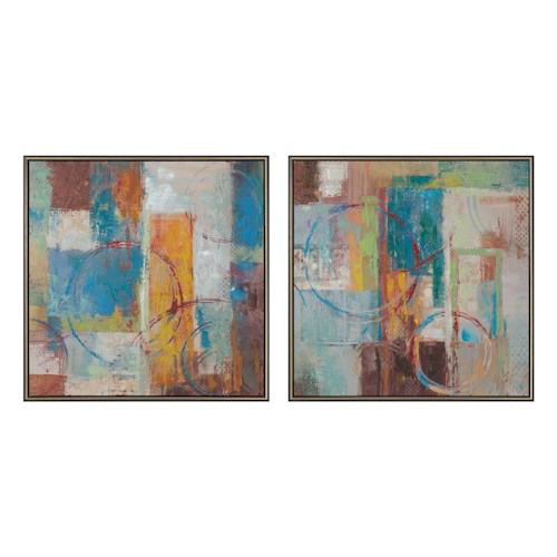 Coaster Wall Art Color Blocks Wall Art