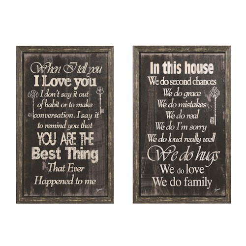 Coaster Wall Art Inspirational Wall Art with Cozy Sentiment