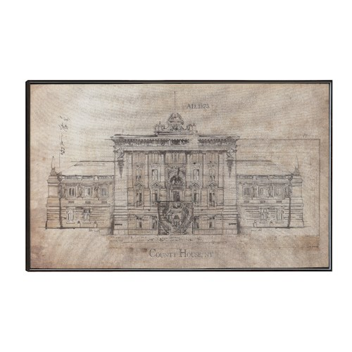 Coaster Wall Art Architecture Sketch Wall Art