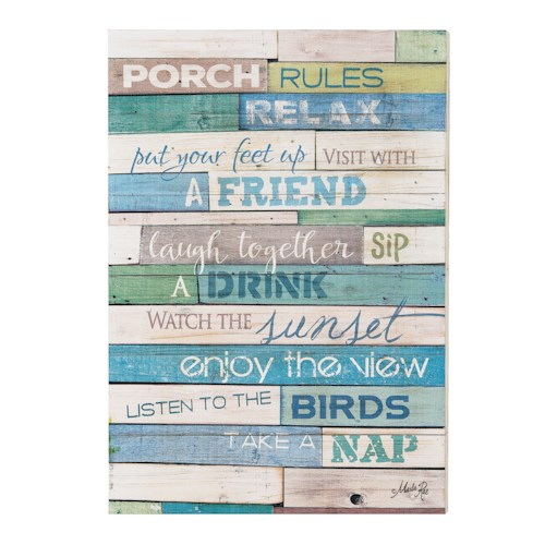 Coaster Wall Art Porch Rules Wall Art