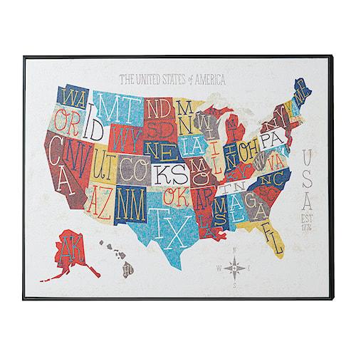 Coaster Wall Art Fifty States Wall Art
