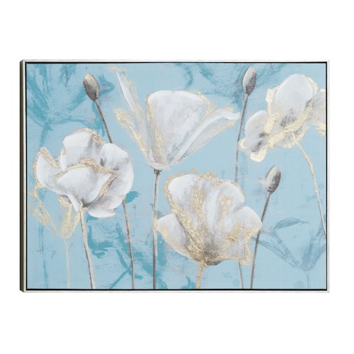 Coaster Wall Art Silvery Blossom Wall Art