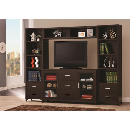 Coaster Entertainment Units Cappuccino Entertainment Wall Unit