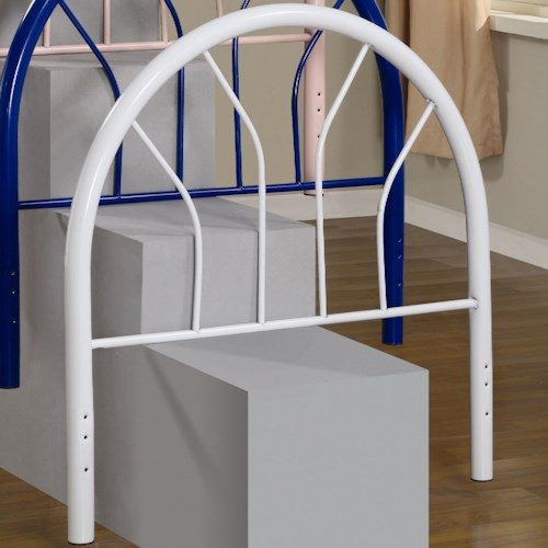 Coaster Youth Beds Twin White Metal Headboard