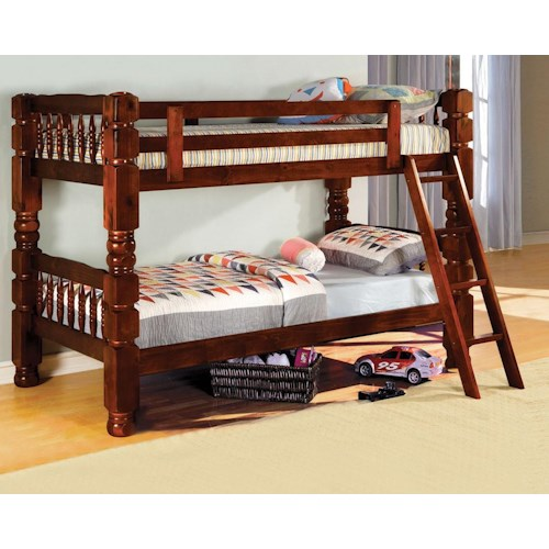 Furniture of America / Import Direct 2528 Bunkbed 2528 Cherry bunk Bed
