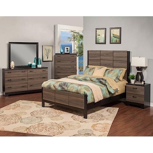 Sandberg Furniture 438 438 Queen Set Nova 6 piece
