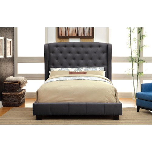 Furniture of America / Import Direct CM7050 Tufted design bed Queen