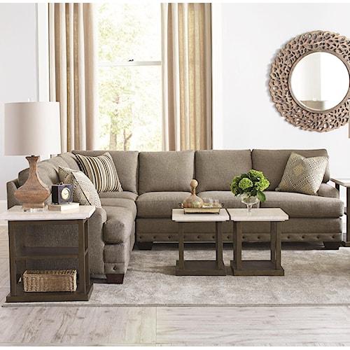 Bassett CU.2 Carmine Five Seat Sectional Sofa