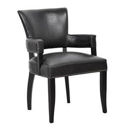 Morris Home Furnishings Dining Collection Leather Dining Arm Chair