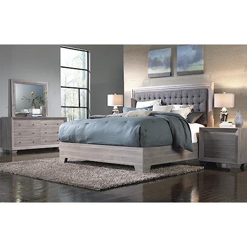 IdeaItalia Arketipo 5pc Queen Bedroom Set Birch