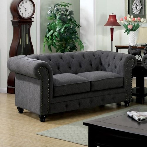 Furniture of America / Import Direct Stanford Stanford Gray Love Seat