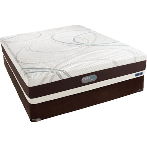 Simmons ComforPedic Advanced St Simons Twin Extra Long Memory Foam Mattress and Foundation