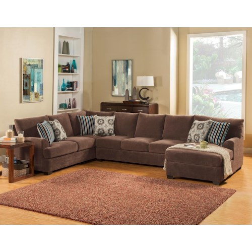 Comfort Industries Abrego 3 pc. Sectional 3 pc. Sectional RAF Chaise