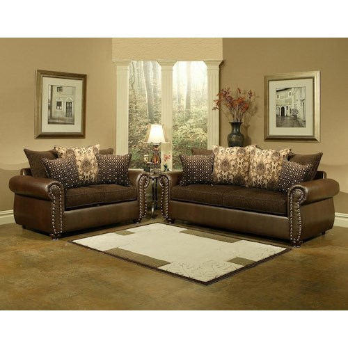 Comfort Industries Austin  Sofa and Love