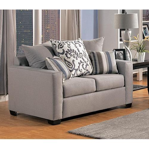 Comfort Industries Mist Grey Mist Grey Love Seat