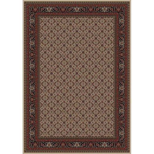 Concord Global Trading Inc. Presidential Red-Ivory 5.3 x 7.7 Area Rug : Red-Ivory