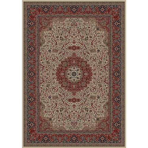 Concord Global Trading Inc. Presidential 6.7 x 9.6 Area Rug : Ivory