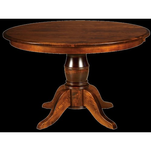 Conrad Grebel Fremont Round Dining Table with Pedestal Base