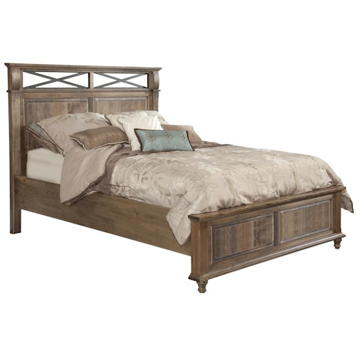 Conrad Grebel Madison King Bed with Metal X Motif