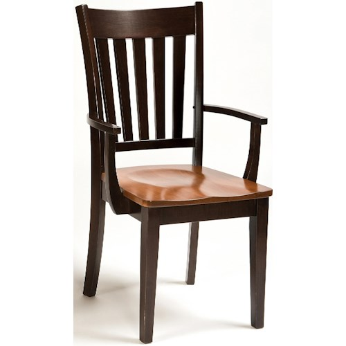 Conrad Grebel Montclair  Arm Chair with Tapered Legs