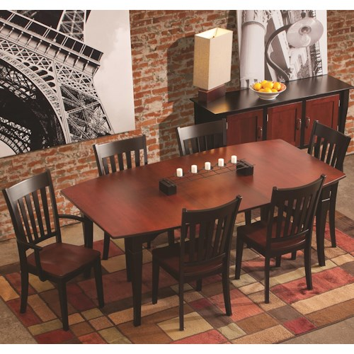 Conrad Grebel Montclair  7 Piece Dining Set with Boat-Shaped Table Top