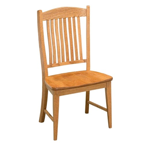 Conrad Grebel Salem M Dining Side Chair with Slat Back