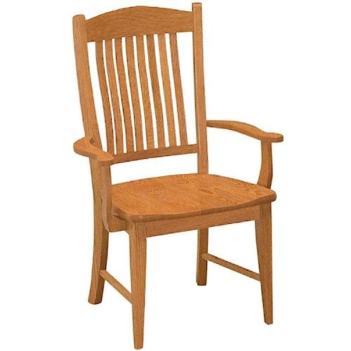 Conrad Grebel Salem M Dining Arm Chair with Slat Back