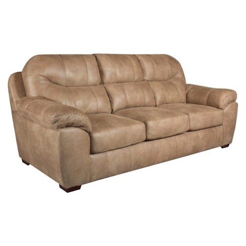 Corinthian 14A0 Sofa with 3 Seats and Casual Style