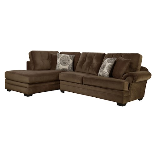 Corinthian 16c0 Small Sectional Sofa With Chaise On Left Side J J Furniture Sofa
