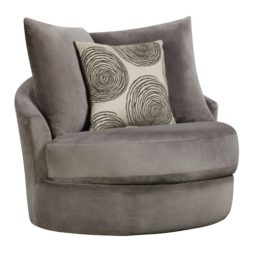 Corinthian 16B0 Swivel Chair with Contemporary Style
