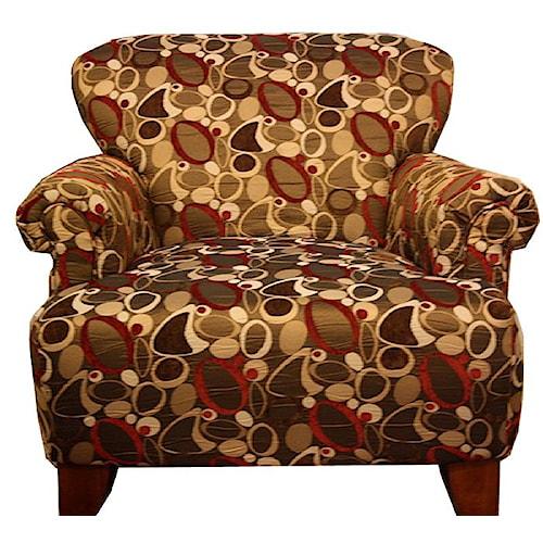 Corinthian 2820 Evolution Copper Accent Chair