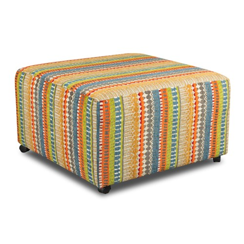 Corinthian 28A0 Square Cocktail Ottoman