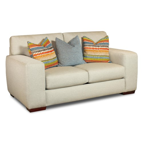 Corinthian 28A0 Loveseat with Contemporary Style