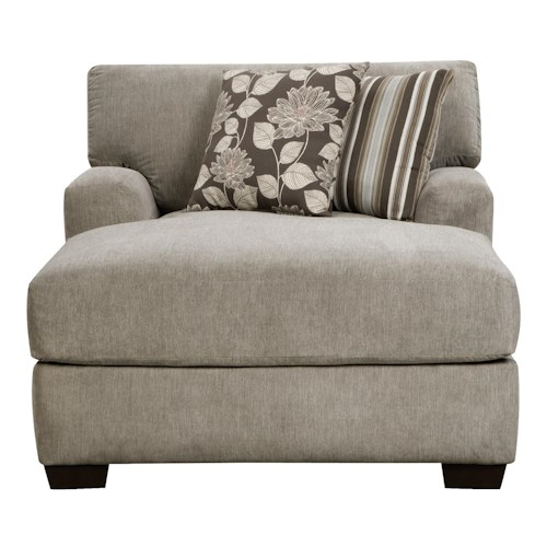 Corinthian 29A0 Josephine Seal 2 Arm Chaise