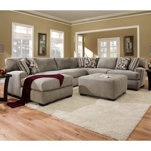 Corinthian 29A0 Sectional Sofa with 5+ Seats (1 is a Chaise)