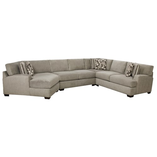 Corinthian 29A0 Josephine 4 Piece Sectional Sofa