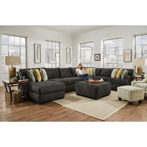 Corinthian 29C0 Alton 4 Piece sectional with LSF Chaise